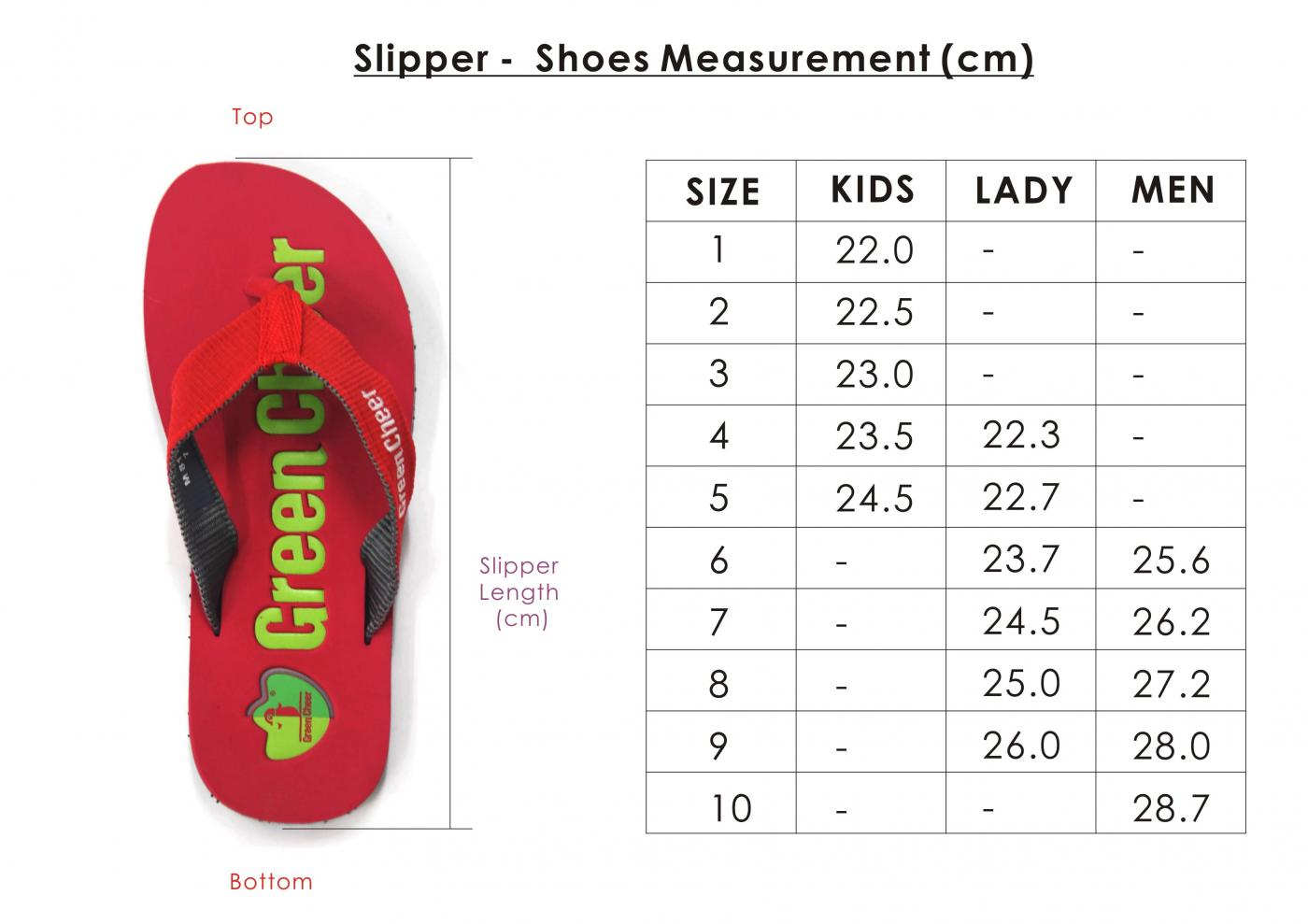 website - size measurement slipper 2